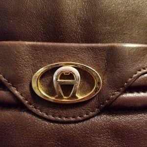 80s Vintage Etienne Aigner Leather Handbag